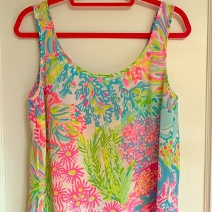 Size small Lilly Pulitzer 100% silk top